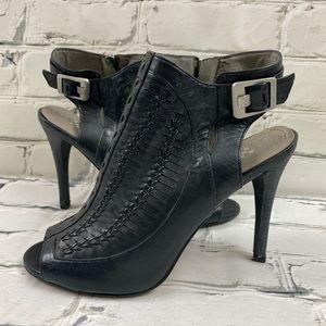 Vince Camuto leather peep toe heels